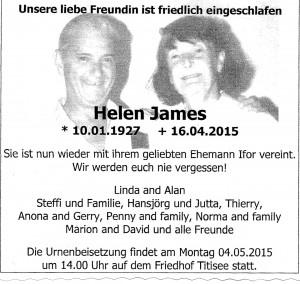Todesanzeige-Helen James 2015